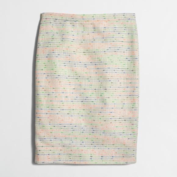 9a9434cab New JCREW Confetti Tweed Pencil Skirt. M_5a3a6de850687cc00303f8c0